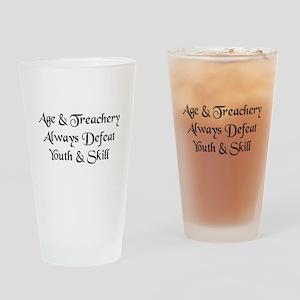 Age & Treachery Drinking Glass