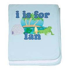 I is for Ian baby blanket