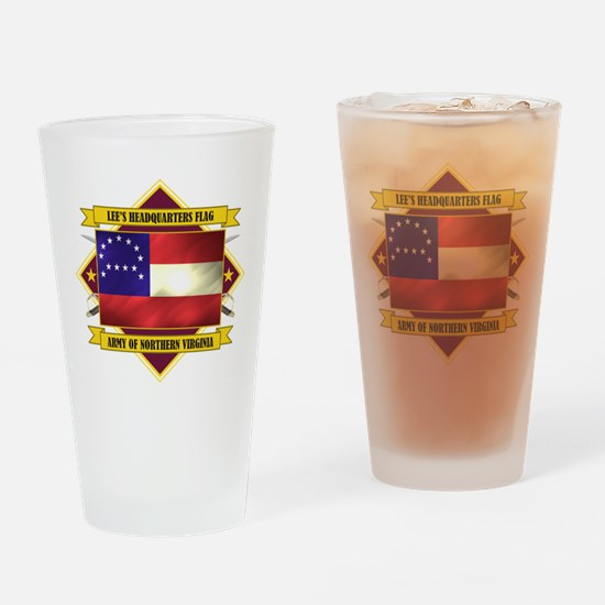 Lee's Headquarters Flag Drinking Glass