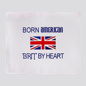 Born American, British by Hea Throw Blanket