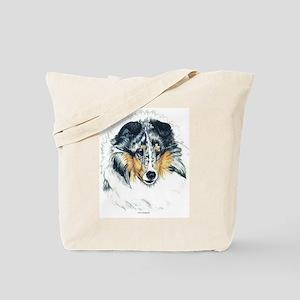 Blue Merle Shetland Sheepdog Tote Bag