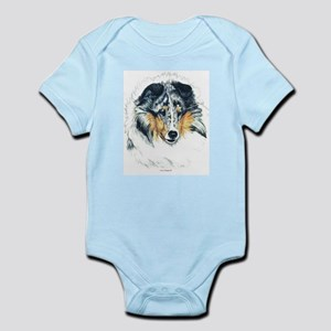 Blue Merle Shetland Sheepdog Infant Creeper