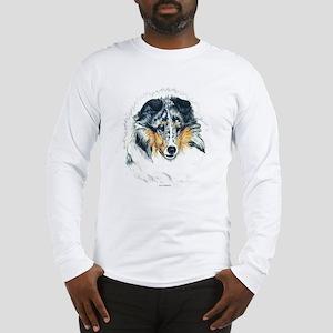Blue Merle Shetland Sheepdog Long Sleeve T-Shirt