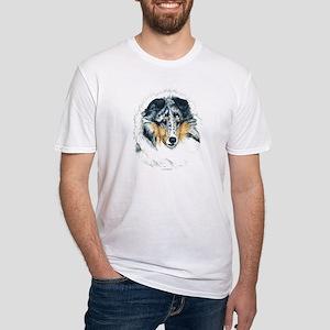 Blue Merle Shetland Sheepdog Fitted T-Shirt