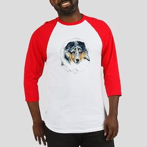 Blue Merle Shetland Sheepdog Baseball Jersey