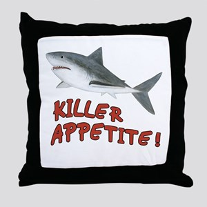 Shark - Killer Appetite Throw Pillow