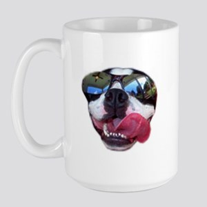 COOL BOSTON TERRIER Large Mug