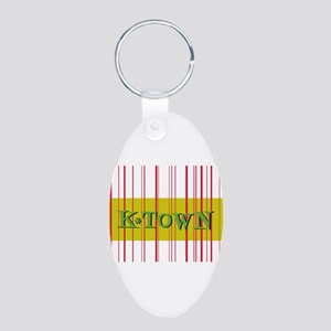 Retro Knoxville K-Town Gold S Aluminum Oval Keycha