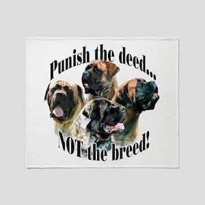 Mastiff (multi) Anti-BSL 3 Throw Blanket