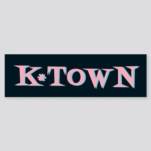 K-Town Black 50s Retro Bumper Sticker