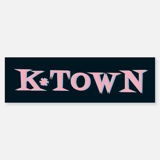 K-Town Black 50s Retro Bumper Bumper Bumper Sticker