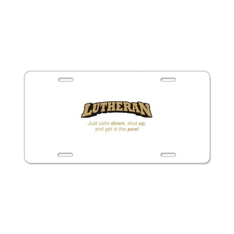 Lutheran / Pew Aluminum License Plate by FaithPlaceGifts