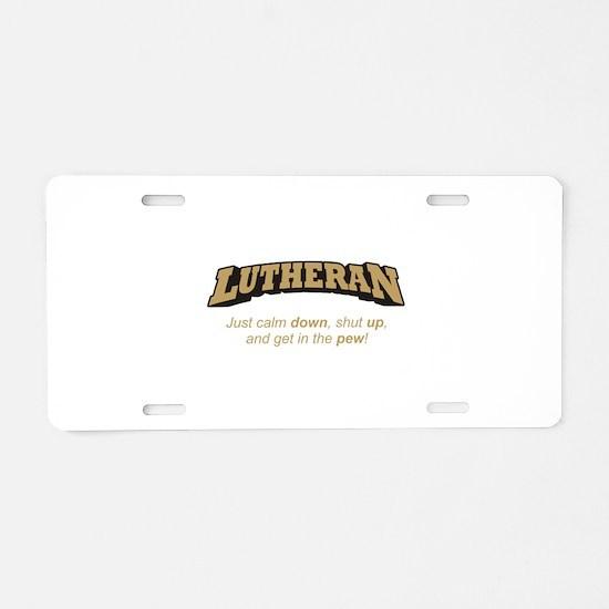 Lutheran / Pew Aluminum License Plate