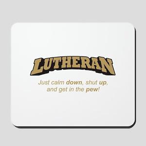 Lutheran / Pew Mousepad