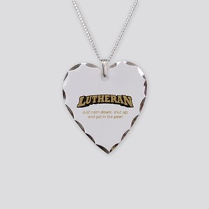 Lutheran / Pew Necklace Heart Charm