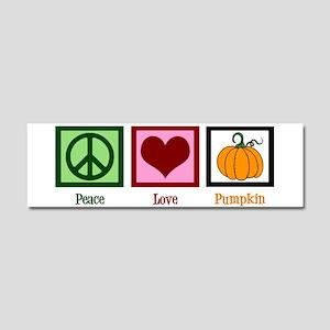 Peace Love Pumpkin Car Magnet 10 x 3