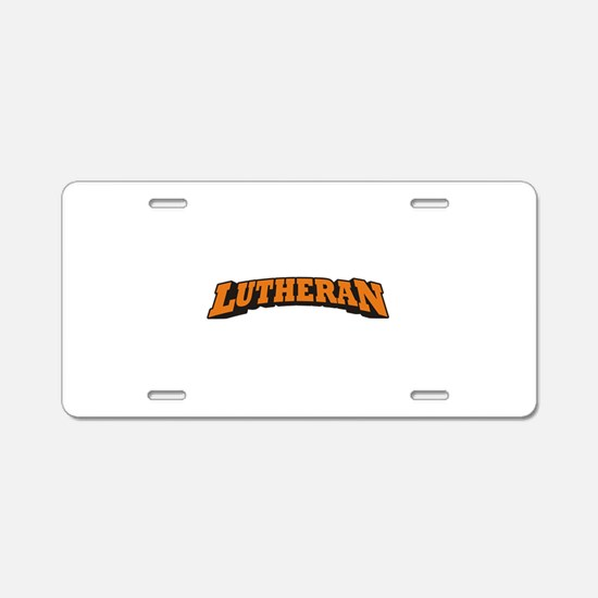 Lutheran Aluminum License Plate