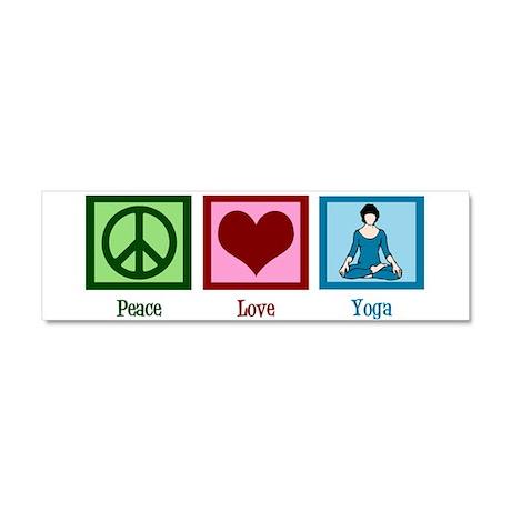 Peace Love Yoga Car Magnet 10 x 3
