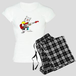 Bass Guitar Cat Apparel Women's Light Pajamas