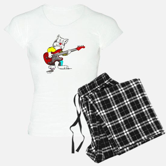 Bass Guitar Cat Apparel Pajamas