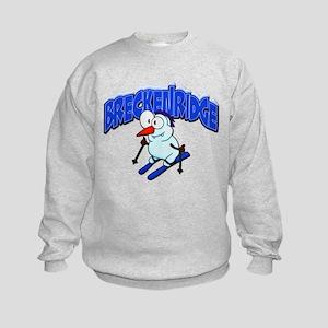 Breckenridge Snowman Kids Sweatshirt