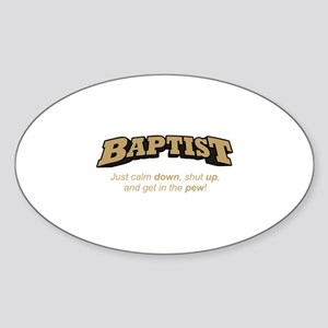 Baptist / Pew Sticker (Oval)