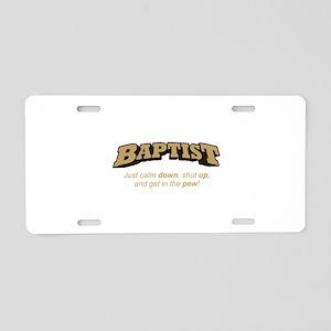 Baptist / Pew Aluminum License Plate