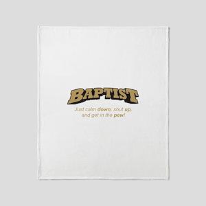 Baptist / Pew Throw Blanket