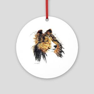 Shetland Sheepdog Sheltie Ornament (Round)