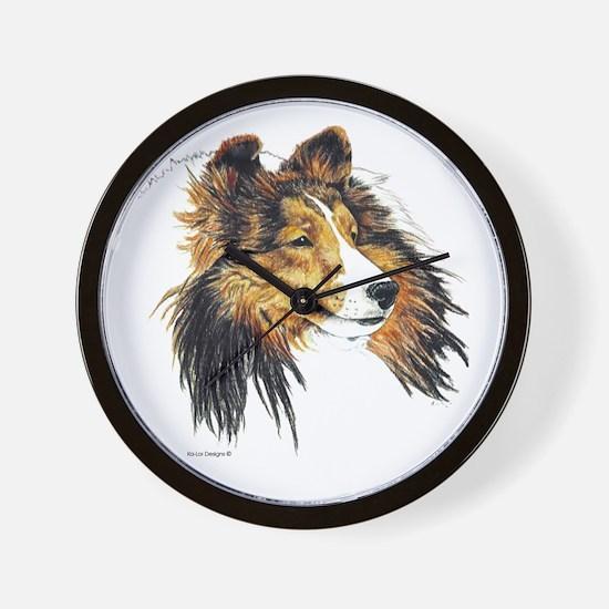 Shetland Sheepdog Sheltie Wall Clock