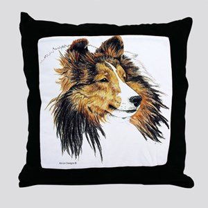 Shetland Sheepdog Sheltie Throw Pillow