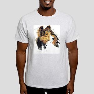 Shetland Sheepdog Sheltie Ash Grey T-Shirt