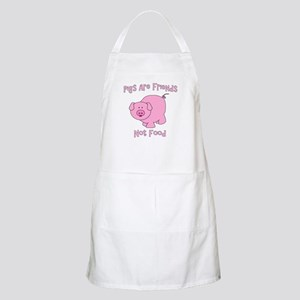 Pigs Are Friends Not Food Apron