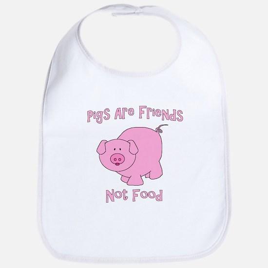 Pigs Are Friends Not Food Bib