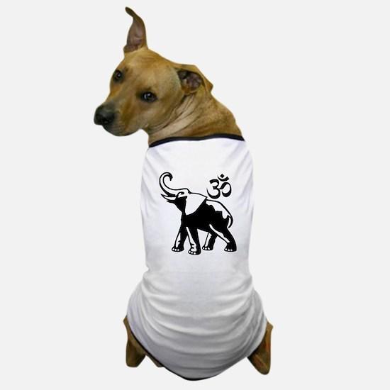 BW Ganesh Aum Dog T-Shirt