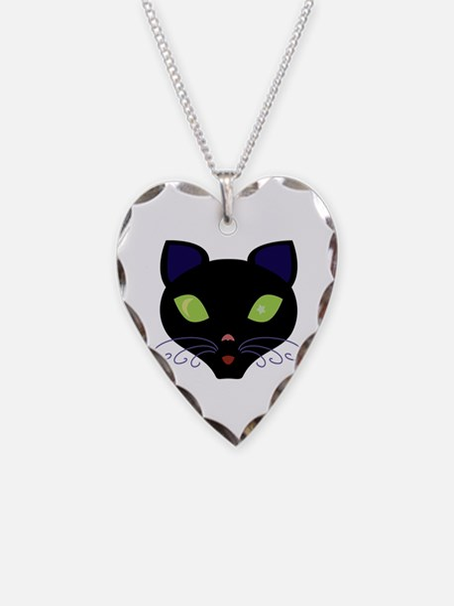 Night Cat Vector Necklace