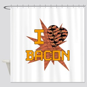 I love Bacon Shower Curtain