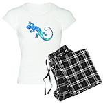 Malachite Blue Gecko Women's Light Pajamas