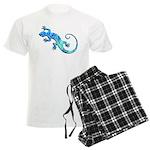 Malachite Blue Gecko Men's Light Pajamas