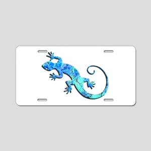Malachite Blue Gecko Aluminum License Plate