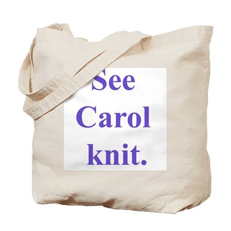 Carol Knits Tote Bag