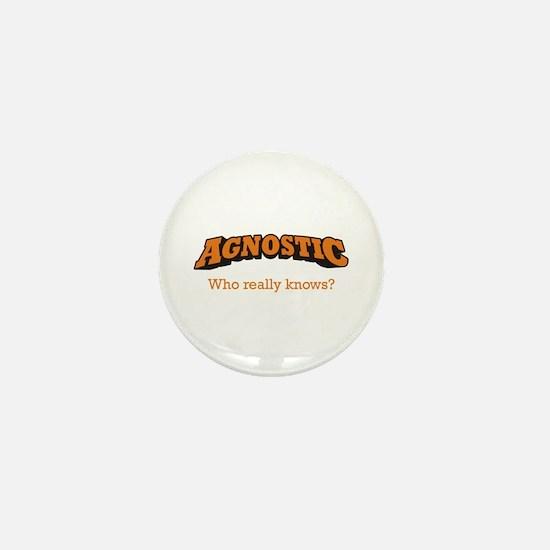 Agnostic / Who Mini Button
