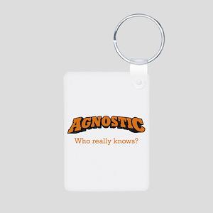 Agnostic / Who Aluminum Photo Keychain