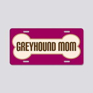 Greyhound Mom Pet Gift License Plate