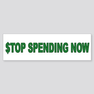 Stop Spending Now Sticker (Bumper)
