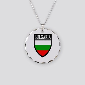 Bulgaria Flag Patch Necklace Circle Charm