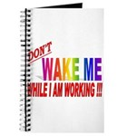 Don't wake me while I am work Journal