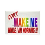 Don't wake me while I am work Rectangle Magnet (10