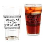 Greeks Bearing Euros Drinking Glass