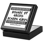 Greeks Bearing Euros Keepsake Box
